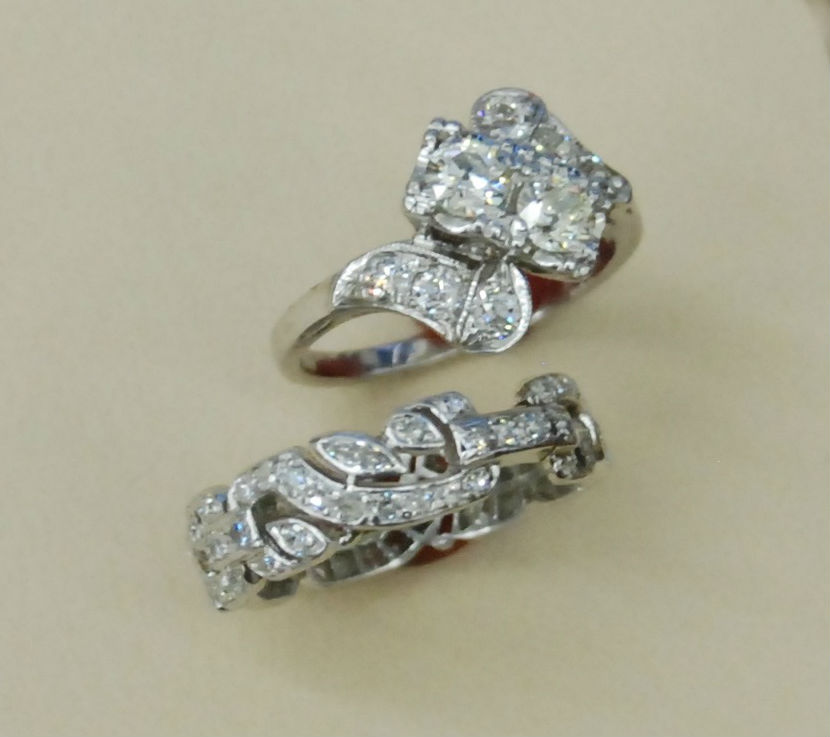 Diamond and Platinum Rings
